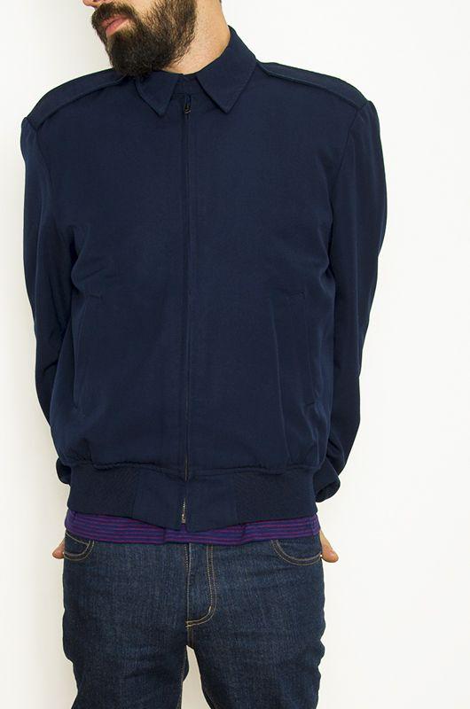 Vintage 90s Navy Blue Military Jacket Size M-L - Bichovintage ... cfef215171c