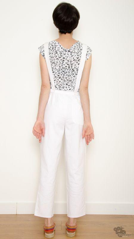 f0bc536e96d Vintage 80s White Jumpsuit Size S - Bichovintage - Online vintage and retro  clothing store