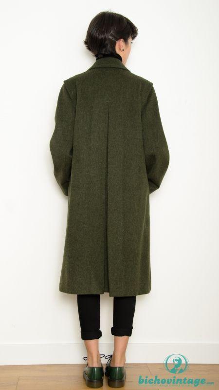 en venta a2530 78676 Abrigo Vintage 70s Verde Modelo Austriaco Mohair Talla L - Bichovintage -  Tienda online de ropa vintage y retro