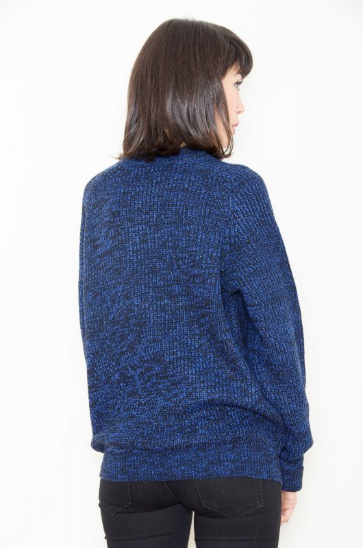 Vintage-Inspired 90s Grunge Knit Blue Sweater - Bichovintage - Online  vintage and retro clothing store c7c683698