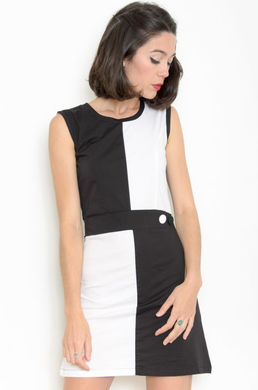 Vintage,Inspired 60s Quadrant Mod Dress , Bichovintage , Online vintage and  retro clothing store