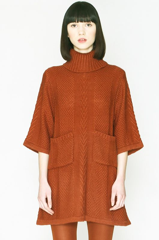 Rollneck Rust Tunic-Jumper Pepaloves - Bichovintage - Online vintage and retro  clothing store dcdcace2e