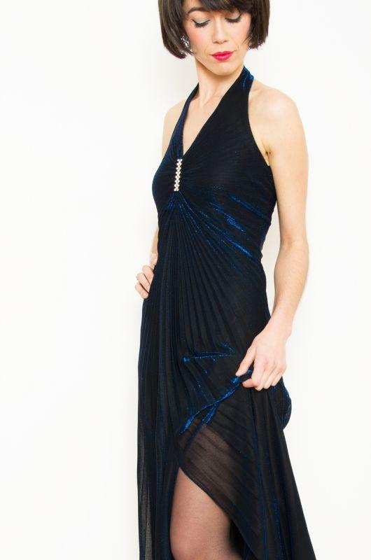 a4d03ac63d07a Vintage 80s Party Blue Reflections Dress Size M - Bichovintage - Online  vintage and retro clothing store