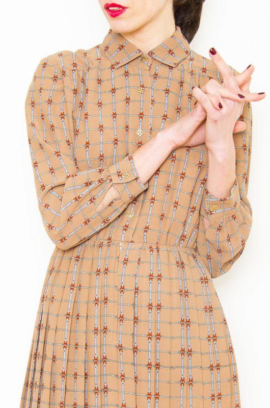 Vintage HQ 90s Cords Light Brown Dress Size M   1 ...