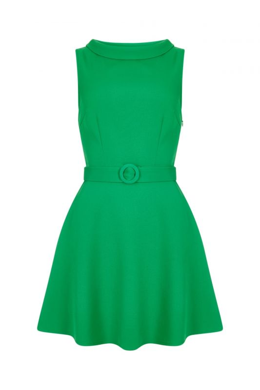 lowest price low priced look good shoes sale Vintage-Inspired 60s Ruth Dress Plain Green - Bichovintage - Online vintage  and retro clothing store