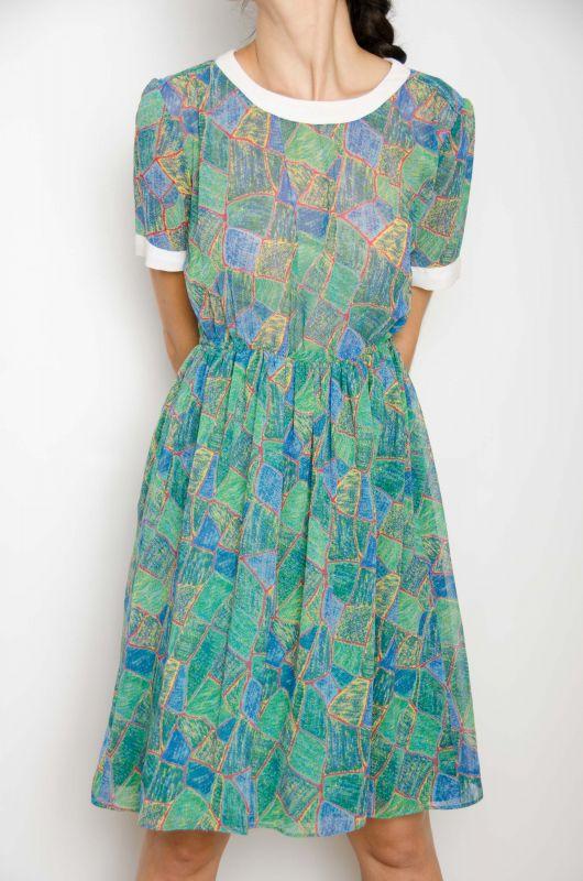 Vestido Vintage Hq 80 90s Dolly Grietas Rojas Talla M Bichovintage Tienda Online De Ropa Vintage Y Retro
