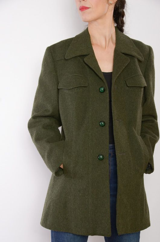 Abrigo vintage verde