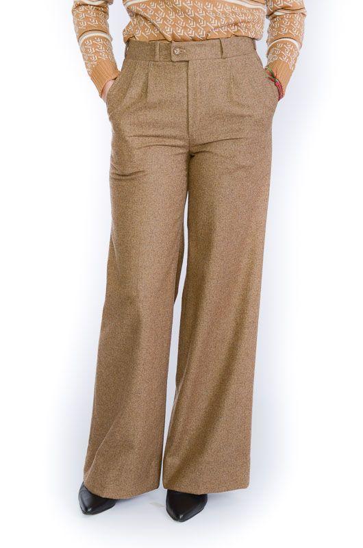 a6abbc37cd682 Pantalón Vintage 60-70s Pata Elefante Pinzas Beis - Bichovintage ...
