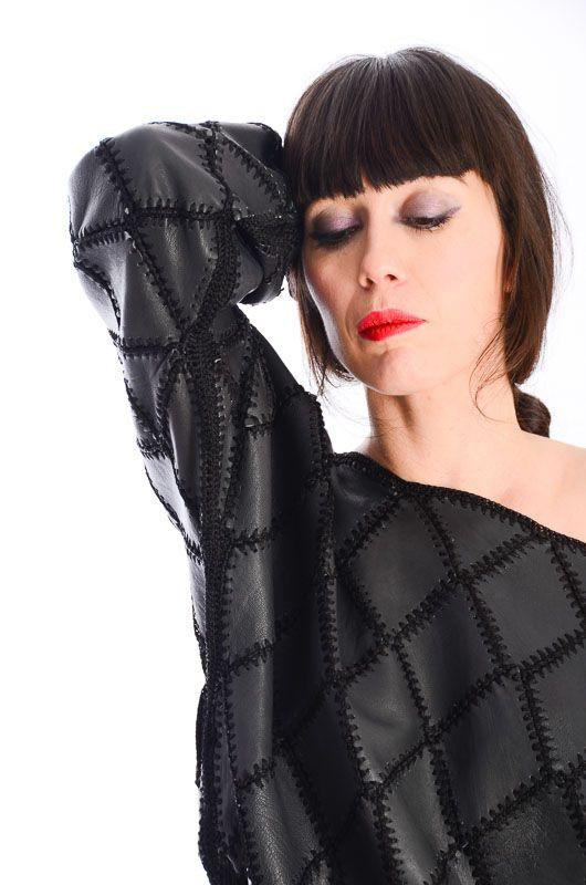b816eb6cbf Vintage Jersey 80s Patchwork Bat Leather Size M-L - Bichovintage - Online  vintage and retro clothing store
