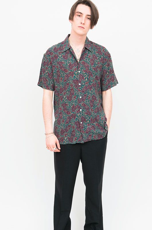 Retro 90s Short Sleeve Shirt Paisley - Bichovintage - Online vintage and  retro clothing store