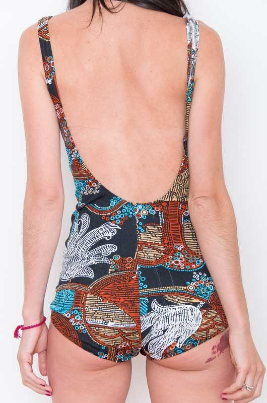 b7997a643eba7 Vintage Swimsuit 50s 60s Bubbles Pin Up Size M - Bichovintage ...