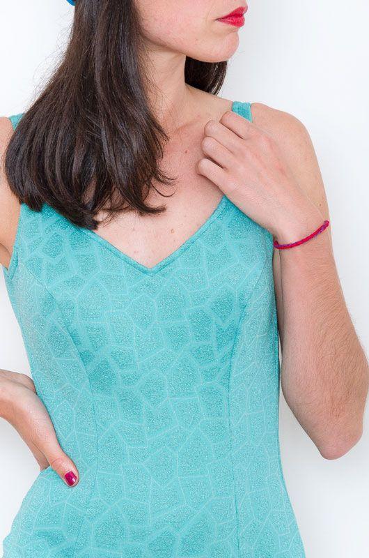 de7312977a4e2 Swimsuit Vintage 50s Textures Glitter Pin-up Size M - Bichovintage ...