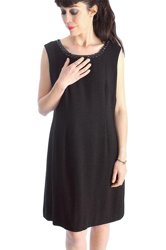 84988f7f Vintage 80s Black Dress Glitter Size M-L - Bichovintage - Online vintage  and retro clothing store