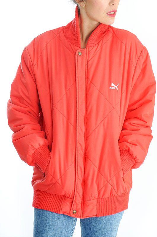 47d6967f7a1e Vintage 80s 90s Puma Red Unisex Jacket L - Bichovintage - Online ...