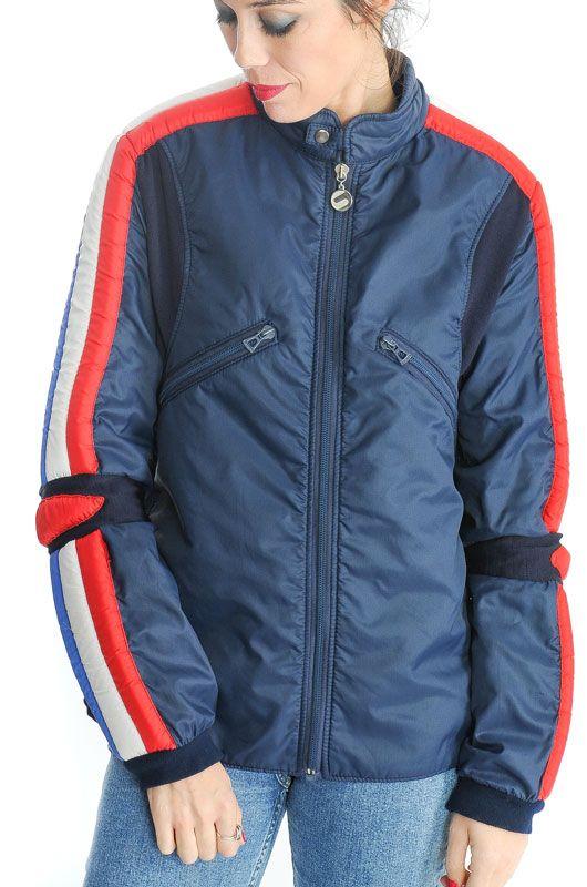 Vintage 70s Ski Blue Men Jacket Size M - Bichovintage - Online ... 906d9008f