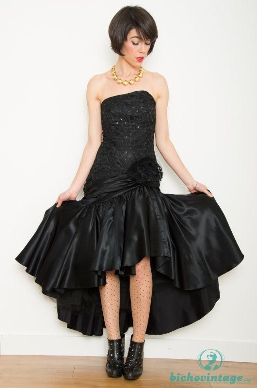 6e1a4a2de374d Vintage 80s Party Prom Avant Garde Dress Size S-M - Bichovintage ...