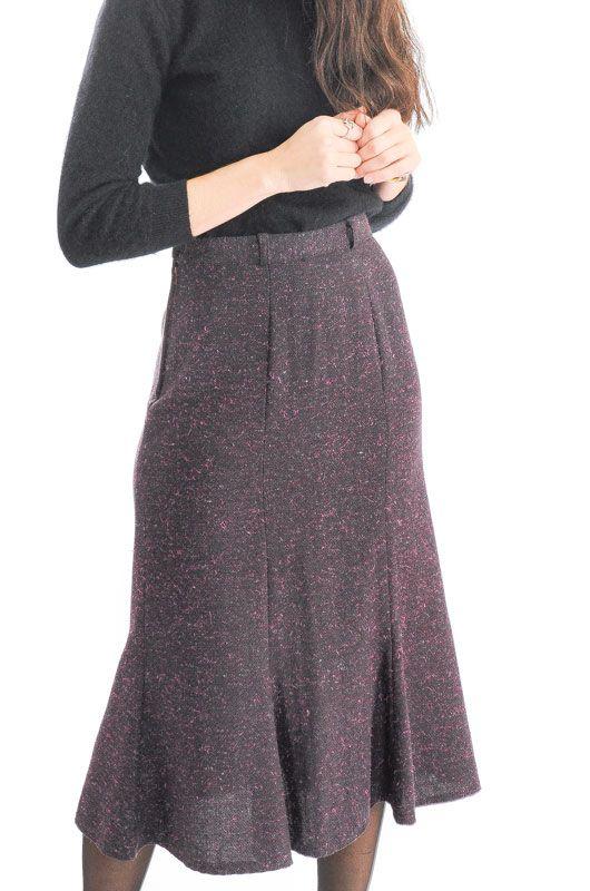mejor servicio 85e23 0129b FALDA VINTAGE 80S 90S MEZCLA LANA CAMPANA TALLA M - Bichovintage - Tienda  online de ropa vintage y retro