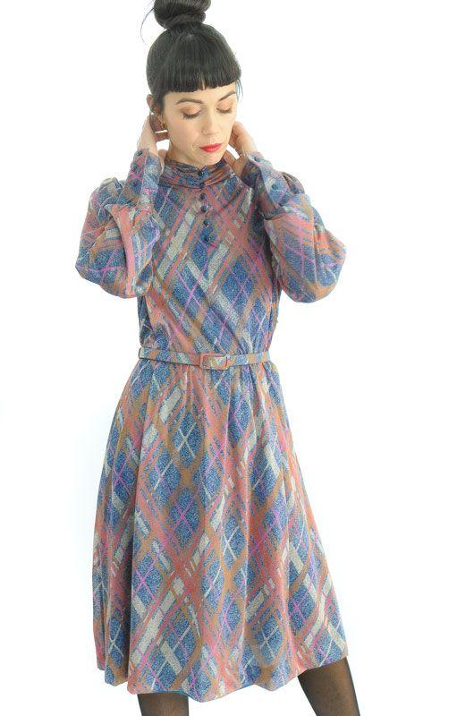 91cbf36c6d3 Vintage80s Frames Bat Dress Size M - L - Bichovintage - Online vintage and retro  clothing store