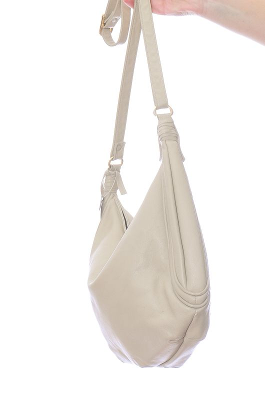 031d9f31a47a7a Vintage 80s Leather Cream Shoulder Bag - Bichovintage - Online ...