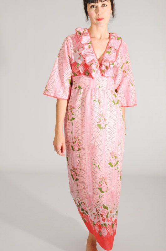 Vintage 70s Maxi Dress Japanese Style Size M , Bichovintage , Online  vintage and retro clothing store