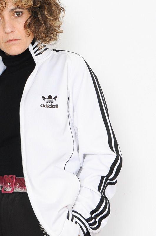 Chaqueta de Chándal Vintage Adidas Clásica Blanca Talla S - Bichovintage -  Tienda online de ropa vintage y retro