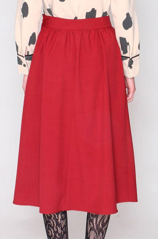 Krizia Vintage falda larga con talle alto Mujer Vintage