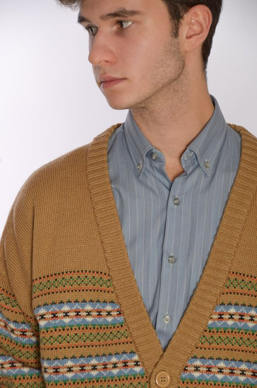 Cardigan John Spencer Camel Retro (Unisex) - 1