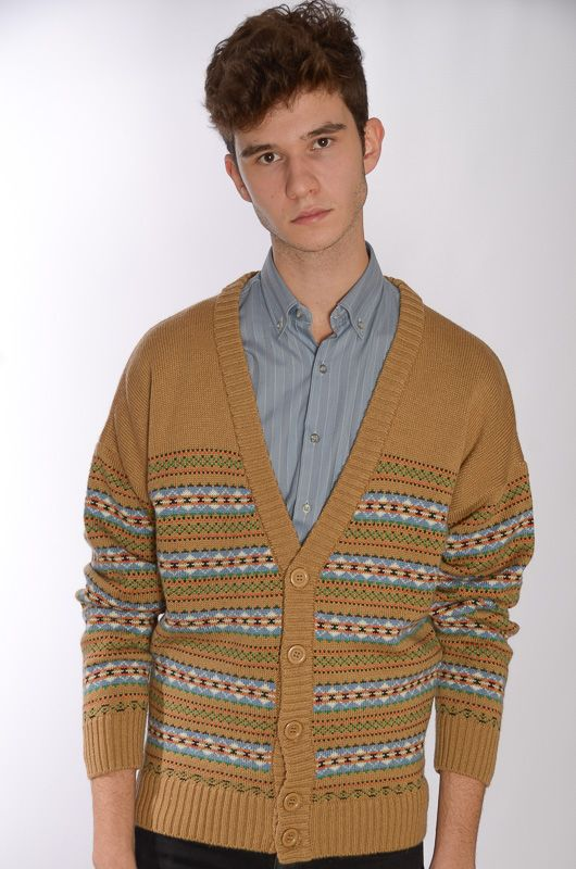 Cardigan John Spencer Camel Retro (Unisex) - 2