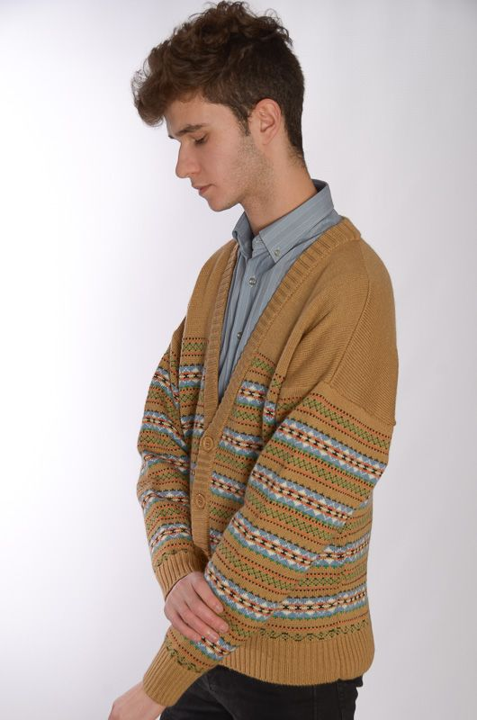 Cardigan John Spencer Camel Retro (Unisex) - 3