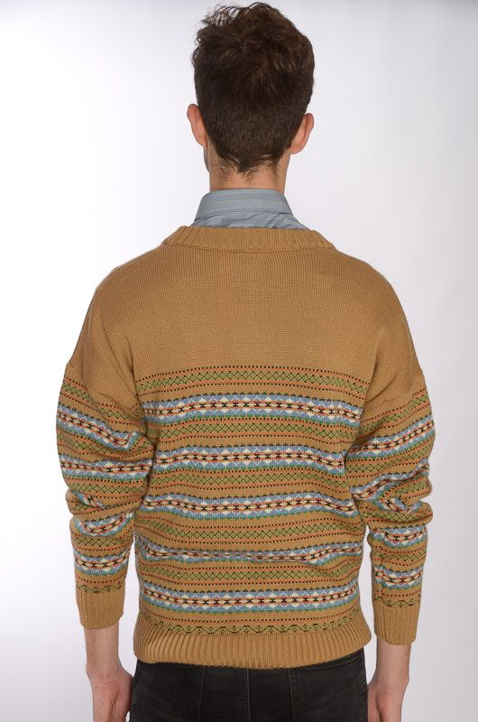 Cardigan John Spencer Camel Retro (Unisex) - 4