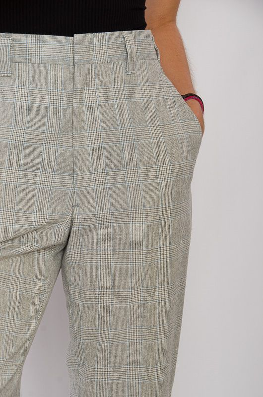 Vintage 70s Neck Checkered Gray Pants Size L - 2