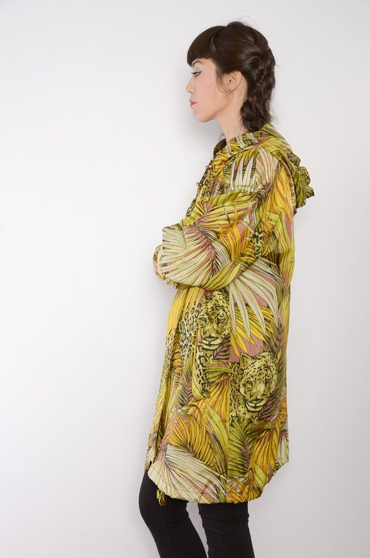 Vintage 90s RainCoat Animal Print Oversize - 3