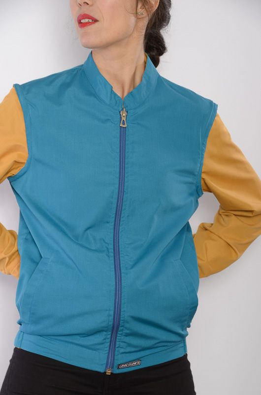 Cazadora-Chaleco-Reversible Azul/Camel Mac Clows - 1