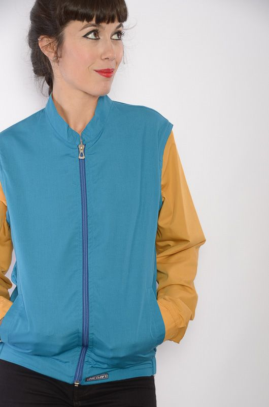 Cazadora-Chaleco-Reversible Azul/Camel Mac Clows - 2