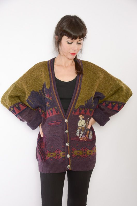 Cardigan Vintage 80s Rodeo Oversize - 2