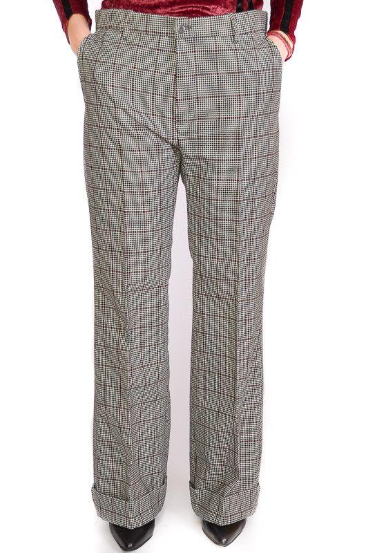 Pantalon Vintage 60 70s Pata De Elefante Pata De Gallo Talla L Bichovintage Tienda Online De Ropa Vintage Y Retro