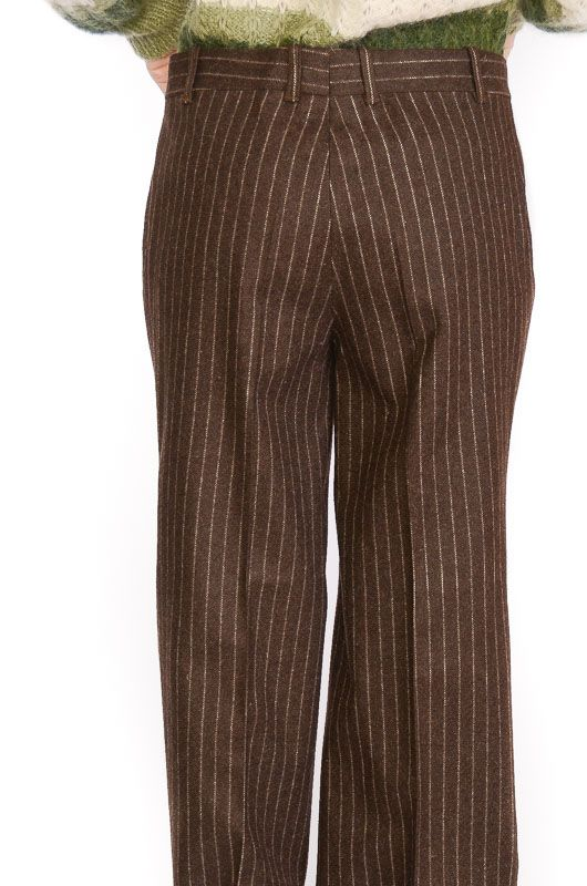 Vintage Pants 60-70s Flare Pinstripe Brown Size XL - 2