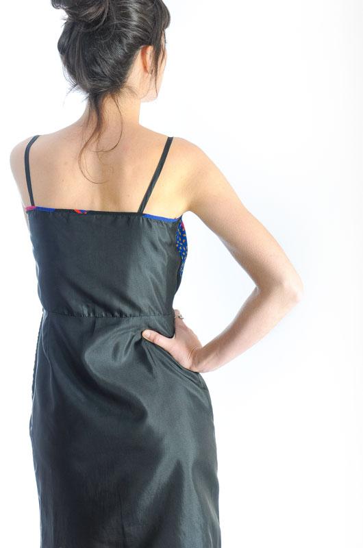 Vestido vintage 90s lencero estilo patchwork talla s - Estilo patchwork ...