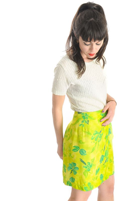 Vintage 90s Floral Knot Adjustable Pareo Skirt - 3