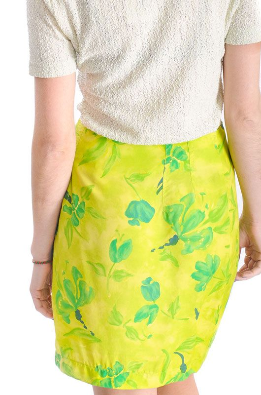 Vintage 90s Floral Knot Adjustable Pareo Skirt - 4