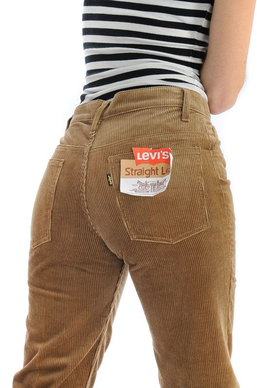 Vintage Levis Light Brown Straight Pants Size M - 1