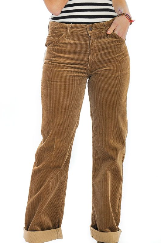 Vintage Levis Light Brown Straight Pants Size M - 2