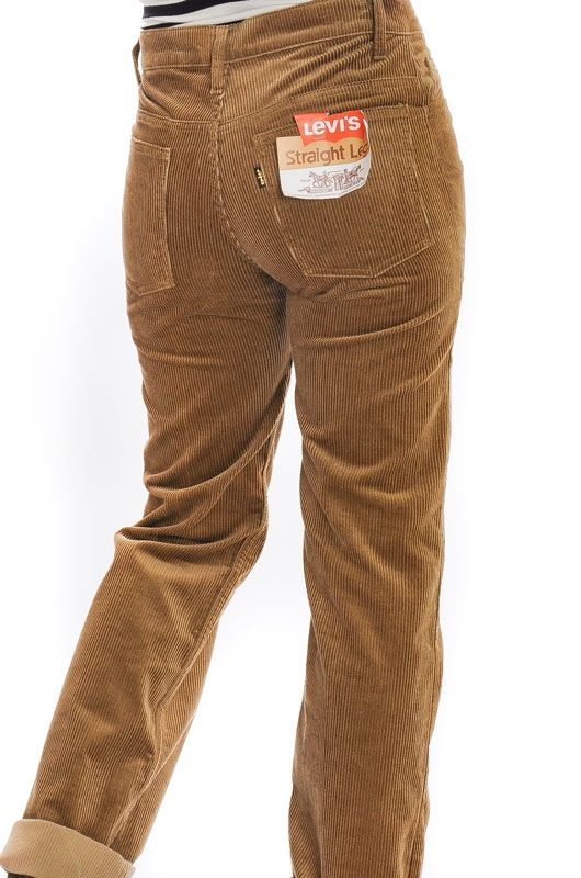 Vintage Levis Light Brown Straight Pants Size M - 4