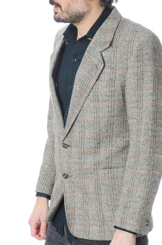 TWEED CLASSIC VINTAGE GRAY JACKET SIZE L - 2