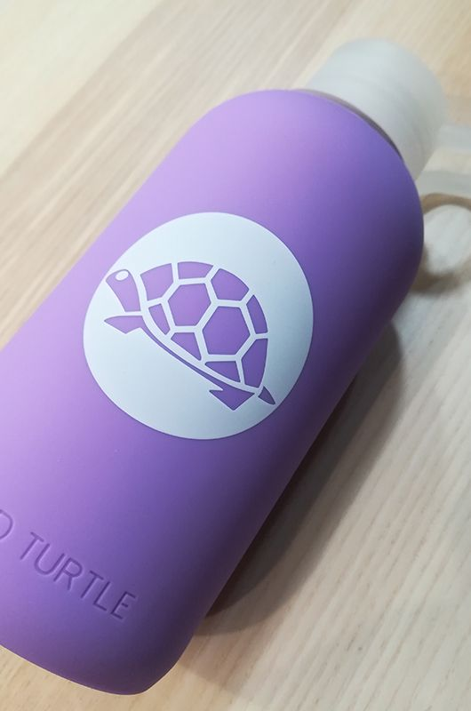 Botella de cristal Wild Turtle Purple - 3