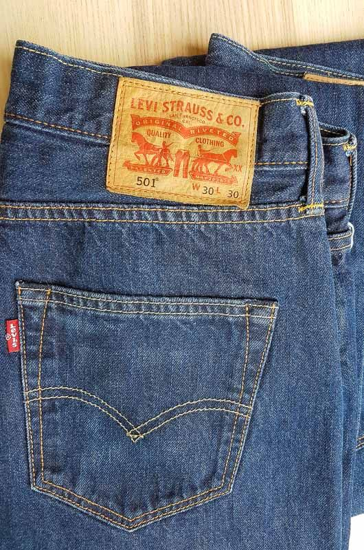 Levis Original 501 Vintage Medium Indigo High Medium Rise Size 30 Bichovintage Online Vintage And Retro Clothing Store