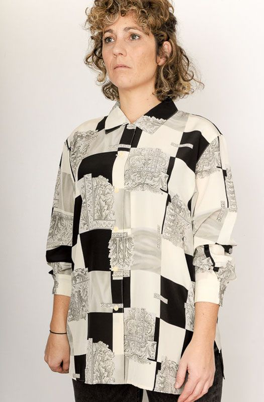 Camisa Xo Collections Black&White Talla L - 3