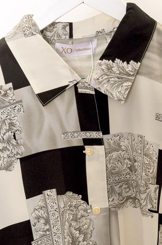 Camisa Xo Collections Black&White Talla L - 1