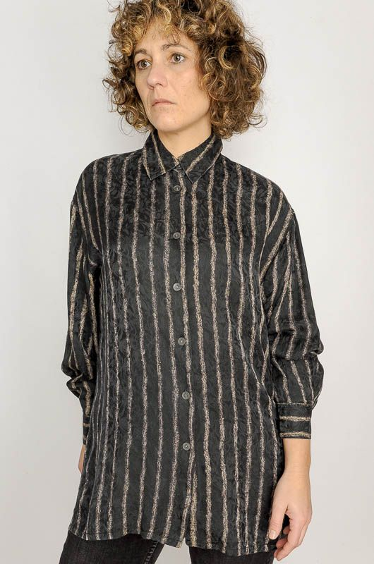 Camisa Larga Xo Collection Black Elegant Talla M - L - 4