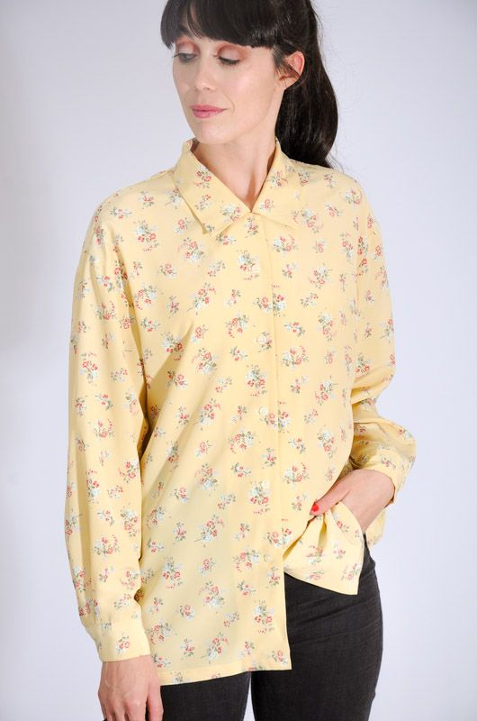Camisa Xo Collections Amarilla Bouquet Talla M - 3